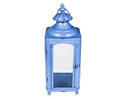 Metalowy lampion błękitny 50 cm