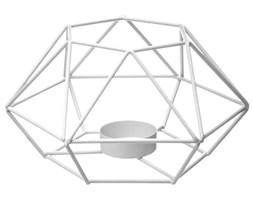 Lampion na świece ozdobny, designerski metalowy świecznik na stół