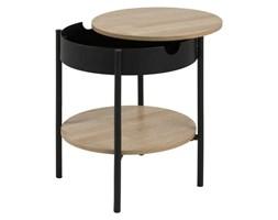 Nowoczesny stolik z półką i zdejmowanym blatem Tipton Small