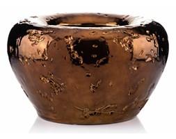 Donica ceramiczna miedziany brąz HERMES XL