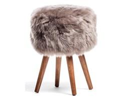 5cfa55f87c4f9 Stołek z brązowym siedziskiem z owczej skóry Royal Dream