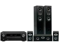 Kino domowe DENON AVR-X250BT + Eltax Experience 5.0 Czarny