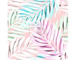 076db9b1ecc01f Fototapeta Tropikalna Palma liści deseń. Modne wzornictwo z abstrakcyjnymi  dżungliami. Egzotyczne bezszwowe tło.