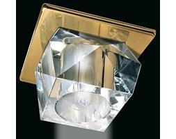 Złota lampa sufitowa 1518or kryształowe oczko gumarcris oprawa podtynkowa salon hol łazienka