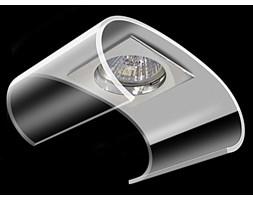 Srebrna  lampa sufitowa 2805cr szklane oczko gumarcris oprawa podtynkowa  salon hol łazienka hotel