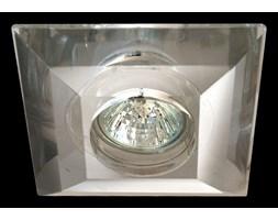 Srebrna lampa sufitowa 727cro kryształowe oczko gumarcris oprawa podtynkowa salon hol łazienka hotel