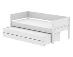 Łóżko MDF krótsze z łóżkiem Trundle wys. z 2 szufladami,MDF,białe bez materaca