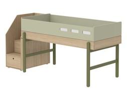 Łóżko średniowysokie ze schodami, potrzebny materac 200x90cm, KIWI
