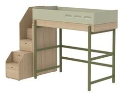 Łóżko wysokie ze schodami, potrzebny materac 200x90, KIWI