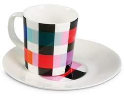 Filiżanka do espresso, porcelanowy kubeczek do kawy ze spodkiem idealny na prezent