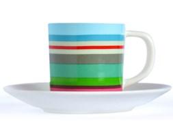 Filiżanka z porcelany do espresso, kubeczek z talerzykiem w oryginalnej kolorystyce