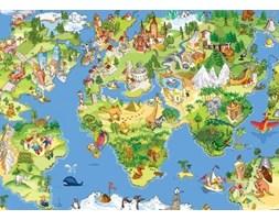 Mapa Świata, dla Dziecka - fototapeta