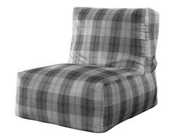 Dekoria Pufa- fotel, krata w odcieniach szarości, 87 × 31 × 75 cm, Edinburgh