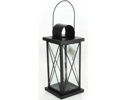 Duży czarny lampion metalowy - latarnia wisząca 29cm