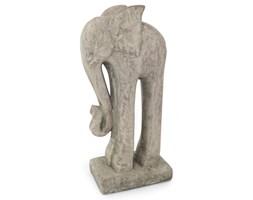 Słoń figurka ogrodowa ceramiczna do ogrodu 29 cm kamienny