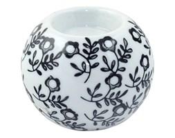 Ceramiczny okrągły świecznik na t-light kula kwiatowe wzroki