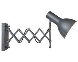 Kinkiet LAMPA ścienna TESLA W2438 Auhilon metalowa OPRAWA reflektorek na harmonijce loft szara