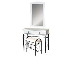 Toaletka Wersal biało -czarna