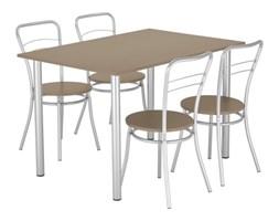 Stół + 4 krzesła Dąb Sonoma NOWY STYL