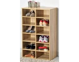 Wysoka szafka na buty z drewna w kolorze dębu, regał na buty, szafka na buty do przedpokoju, komoda na buty, drewniana szafka na buty, Kesper