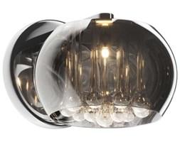 Kinkiet LAMPA ścienna CRYSTAL W0076-01D-F4FZ Zumaline szklana OPRAWA moonlight glamour z kryształkami chrom