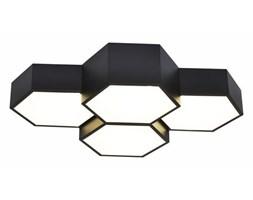 MCODO ::  Heksagonalny plafon FAVO 4 z jedną barwą światła led 4000K, czarny 48W