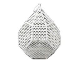Lampion metalowy White