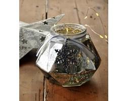 Lampion szklany Srebro