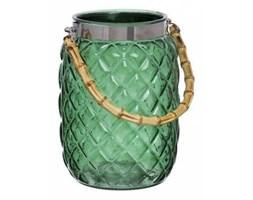 Lampion szklany Tori green