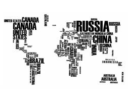 Naklejka na ściane Mapa świata WS-0034