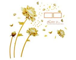 Naklejka na ścianę Złote Kwiaty WS-0084