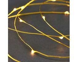 Światełka LED Na Złotym Druciku
