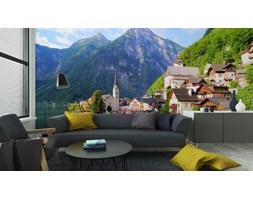 Fototapeta Widok Od Strony Jeziora Hallstatt Wsi Z Alpy, Austria