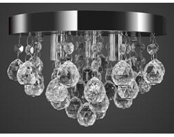 vidaXL Wisząca lampa sufitowa z kryształkami, chromowa