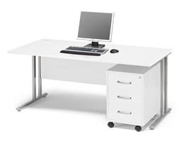 Zestaw mebli biurowych FLEXUS, biurko 1600x800 mm, kontenerek z 3 szufladami, biały