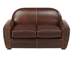 0b6d691996310 2-osobowa kanapa klubowa z postarzanej skóry BAUDOIN - Kolor  czekoladowy
