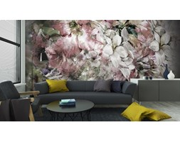 694cc2729eb6c7 Fototapeta Bukiet Wielokolorowe Malowania Kwiaty Akwarela Na Kolorowym Tle