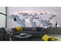 Fototapeta Światowa Mapa Rzeźby Na Ścianie