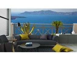 Fototapeta Piękny Widok Na Morze Z Fira W Santorini, Grecja