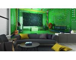 Fototapeta Fantasy Cyfrowej Pokoju. Futurystyczne Wnętrza Domu.