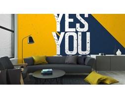 Fototapeta Motywacyjne Plakat Z Napisem yes You Can. Cienie Na Wy