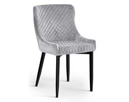 Krzesło LOGANO VELVET srebrny/ noga czarna Bettso