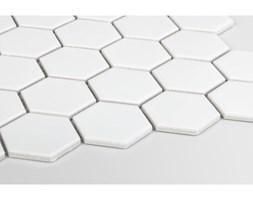 Hexagon duży, biały, matowy