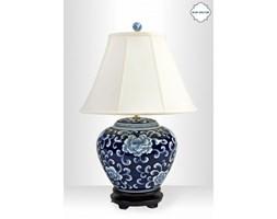 Lampa stołowa, ceramiczna -PEONY COBALT