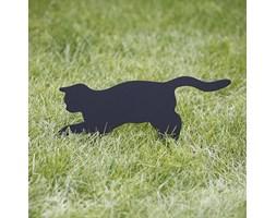 Figura do ogrodu Nierdzewny Kot Pineska