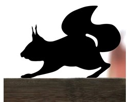 Wiewióra Nierdzewna ozdoba do ogrodu