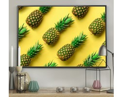 DecoKing - Plakat ścienny - Pineapple - Yellow