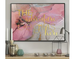 DecoKing - Plakat ścienny - Marble – Pink - Adventure