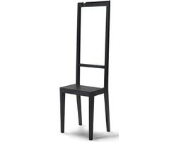 Krzesło i garderoba Alfred czarne