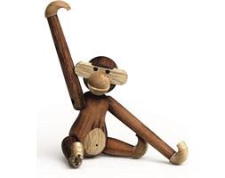 Dekoracja drewniana małpa mini